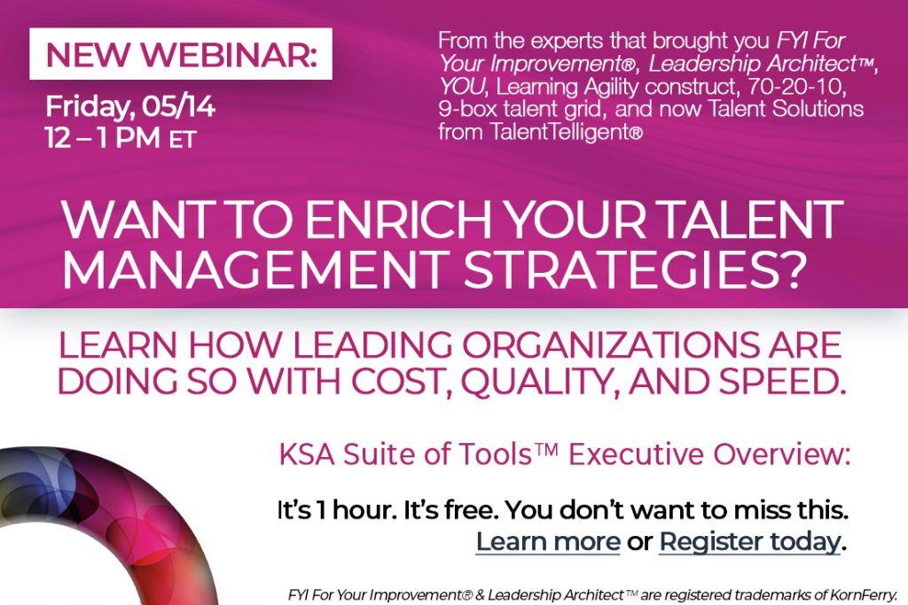 TalentTelligent Executive Overview Webinar Ad