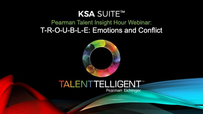 Pearman Talent Insight Hour: Emotions and Conflict
