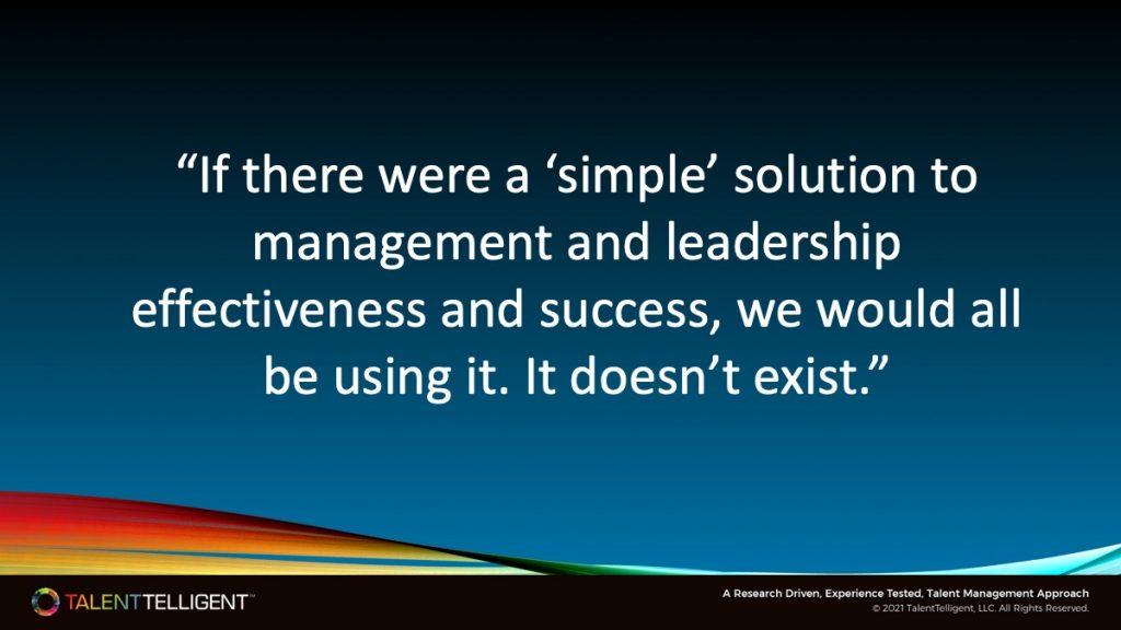 Simple Leadership Is Not Simple