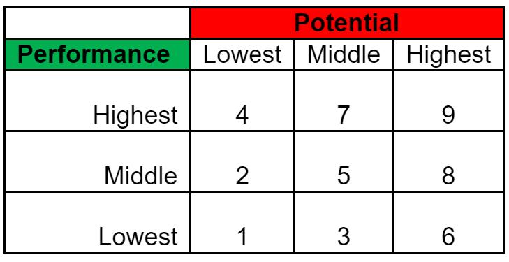 9-box Performance Potential Matrix Image