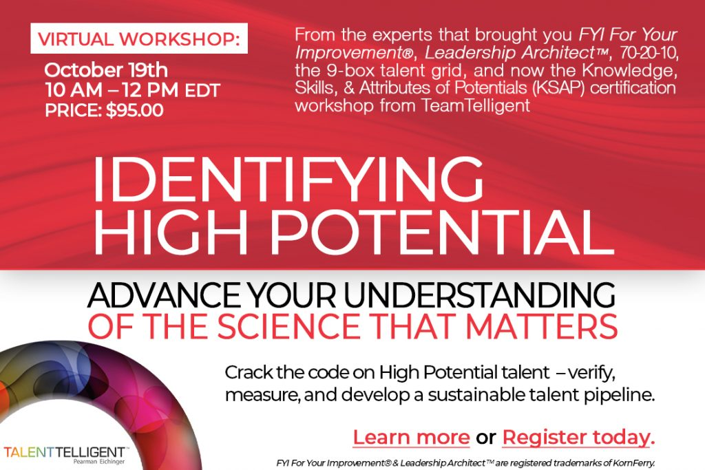 Advanced Orientation to High Potential Employees Workshop