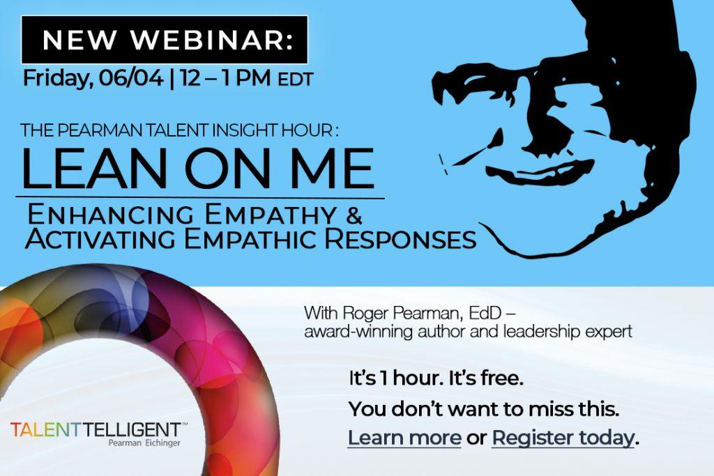 Pearman Talent Insight Hour Webinar: Lean On Me Graphic