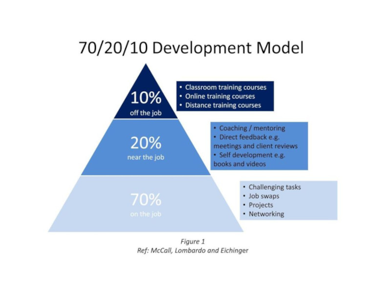 70:20:10 Learning Methodology Graphic