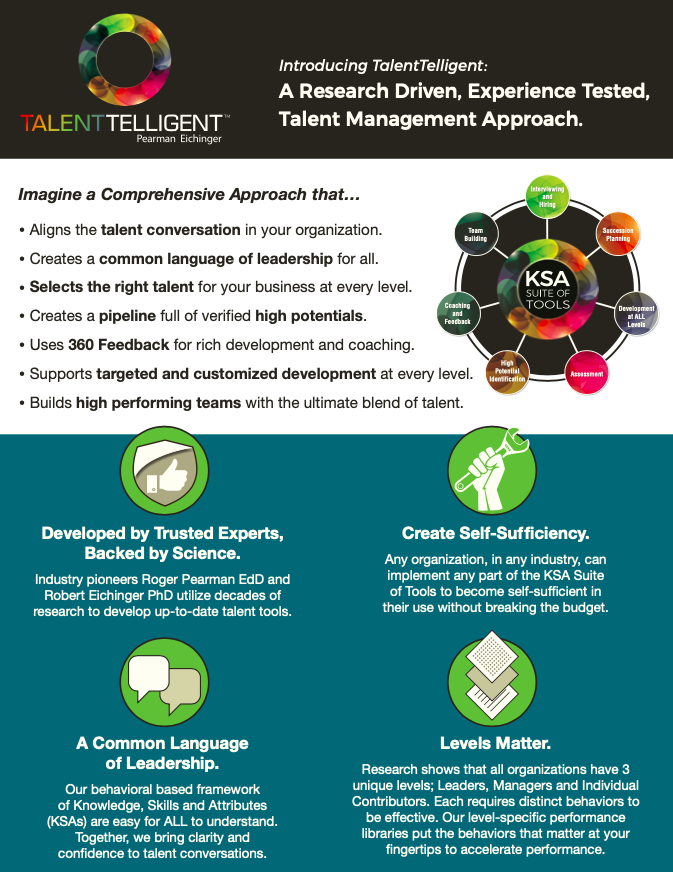 TalentTelligent Introduction to the KSA Suite of Tools PDF Graphic