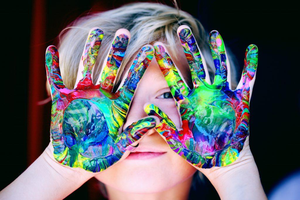 Child Finger-painting Photo